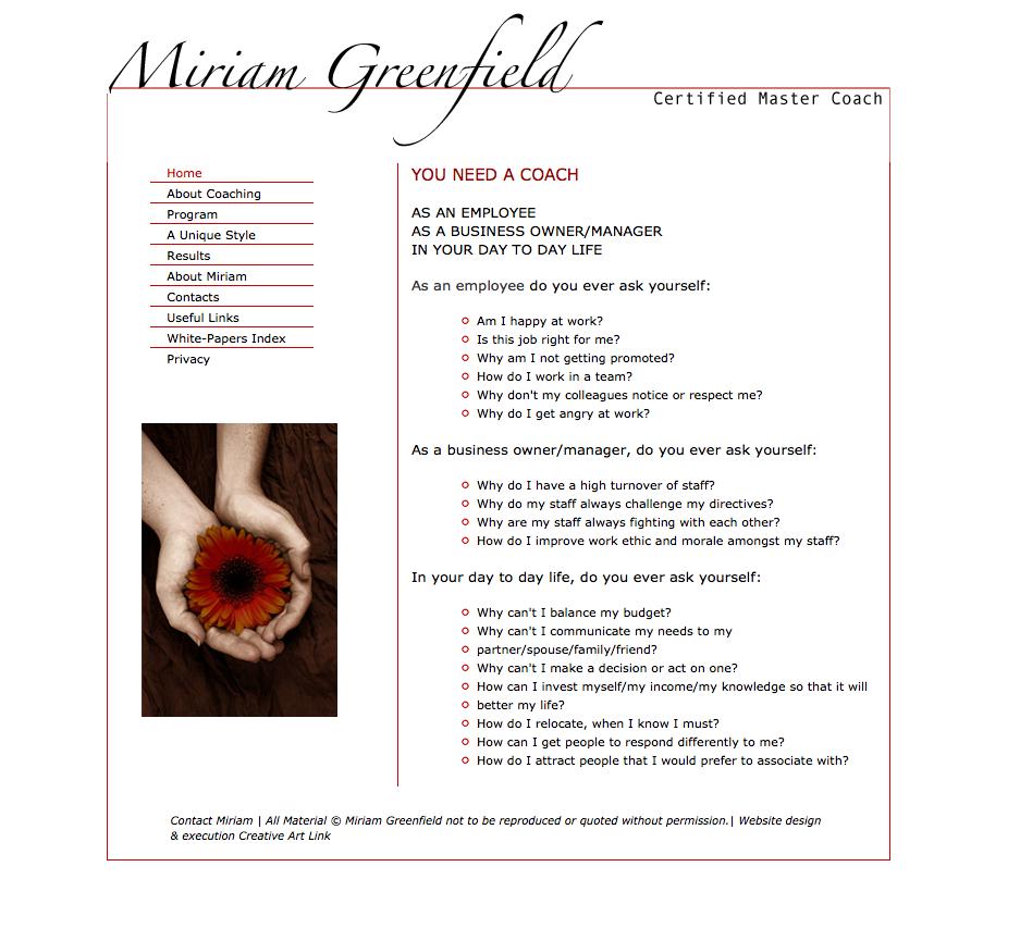 Miriam Greenfield Coaching