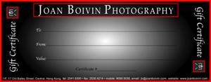 Joan Boivin Photography - Gift Certificate